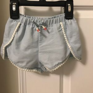 Lucky Brand Baby Girl Light Blue/White Shorts